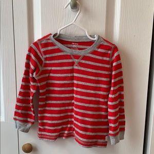 Toddler boy thermal long sleeve shirt.